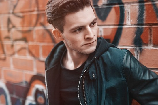 Person wearing Bomber Jacket