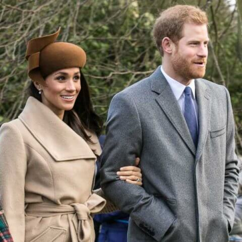 Markle and Prince attending church on Christmas day at 2017