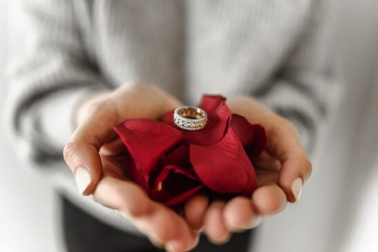 Ring on hands
