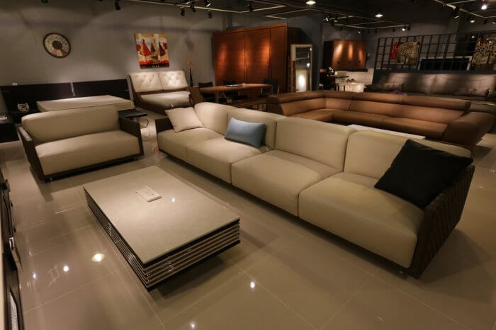 Sofa and chairs in home