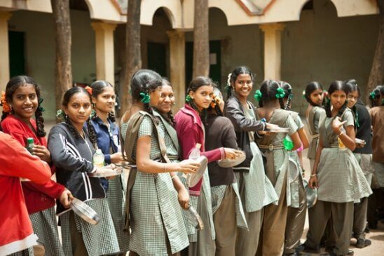 Tenth Standard school students in India
