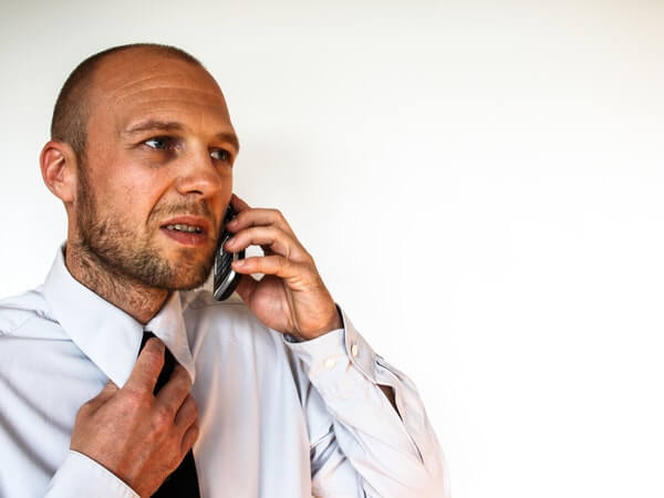customer talks with customer care