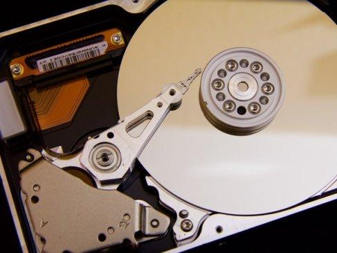 Silver Hard drive
