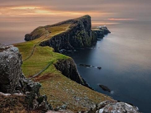 Sea landscape nature water in Scotland