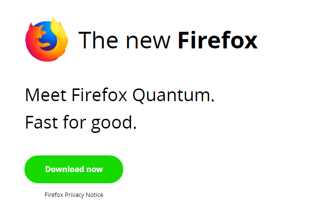 Screenshot of Firefox Quantum browser