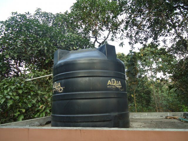 Water tank in home