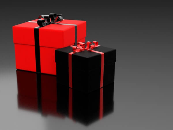 Black and Red color gift boxes